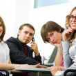 Stock Photo: Young business team