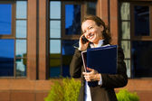 Businesswoman on the phone — Stockfoto