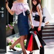 Two young women with shopping bags — Stock Photo #6305082