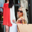 Two young women with shopping bags — Stock Photo #6305134