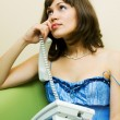 Young woman on the phone — Stock Photo #6313853