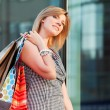Young woman with shopping bags — Stock Photo #6313935