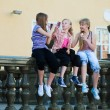Teenage girls calling on the mobile phones — Stock Photo #6321796