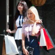Two young women shopping — Stock Photo