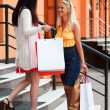 Two young women with shopping bags - Foto Stock