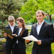 Young business in a city park — Stock Photo #6345051