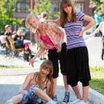 Teenage girls having a fun — Stock Photo