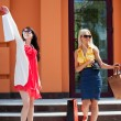 Two young women with shopping bags — Stock Photo #6364143