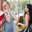 Two young women with shopping bags — Stockfoto #6368965
