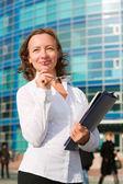 Happy businesswoman — Stock Photo