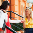 Two young women with shopping bags — Stock Photo #6377540