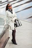 Woman in white — Stock Photo