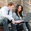 Young couple with laptop — Stock Photo #6404904