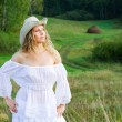 Stock Photo: Beautiful womin stetson