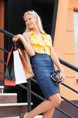 Shopper felice — Foto Stock