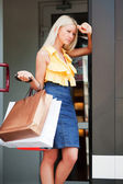 Shopper stanco — Foto Stock