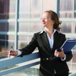 Businesswoman with a folder — Stock Photo #6428005