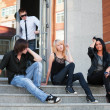 Stock Photo: Teens on the steps