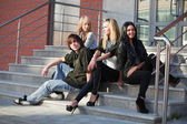Teens on the steps — Stock Photo