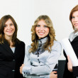 Three young businesswomen — Stock Photo