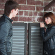 Young couple flirting - Lizenzfreies Foto