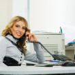 Young businesswoman on the phone — Stock Photo #6479241