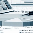Stockfoto: Stock market graphs and charts