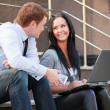 Young couple with laptop — Stock Photo #6556851