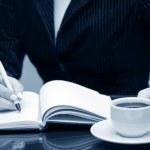 Написание бизнес-леди — Стоковое фото