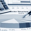 Stock Photo: Stock index sector structure