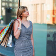 Young woman with shopping bags — Stock Photo #6573487