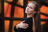 Beautiful woman daydreaming — Stock Photo