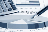 Stock index sector structure — Stock Photo