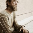 Stock Photo: homeless man