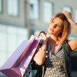 Young woman with shopping bags — Stock Photo #6586867