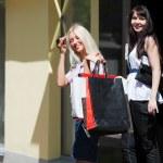 Two young women shopping — Stock Photo