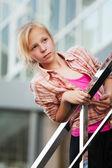 Teenage girl looking away — Stock Photo