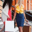 Two young women with shopping bags — Stock Photo #6608940