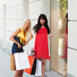 Two young women shopping — Stock Photo #6608953