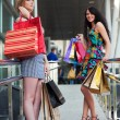 Young women with shopping bags — Stok fotoğraf