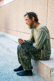 Homeless man — Stock Photo