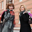 Two young women with shopping bags — Stock Photo #6666804