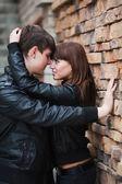 Jong paar in liefde — Stockfoto