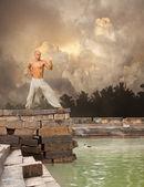 Dövüş sanatları huzur arka plan — Stok fotoğraf