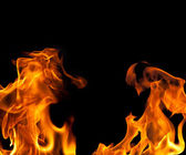 Fire Flame Border Background — Stock Photo