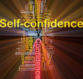 Self-confidence is bone background concept glowing — Stock Photo