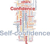Self-confidence is bone background concept — Stock Photo