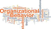 Organizational behavior is bone background concept — Stock Photo