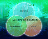 Sustainable solutions business diagram — Stock Photo