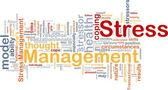 Stress management background concept — Stockfoto